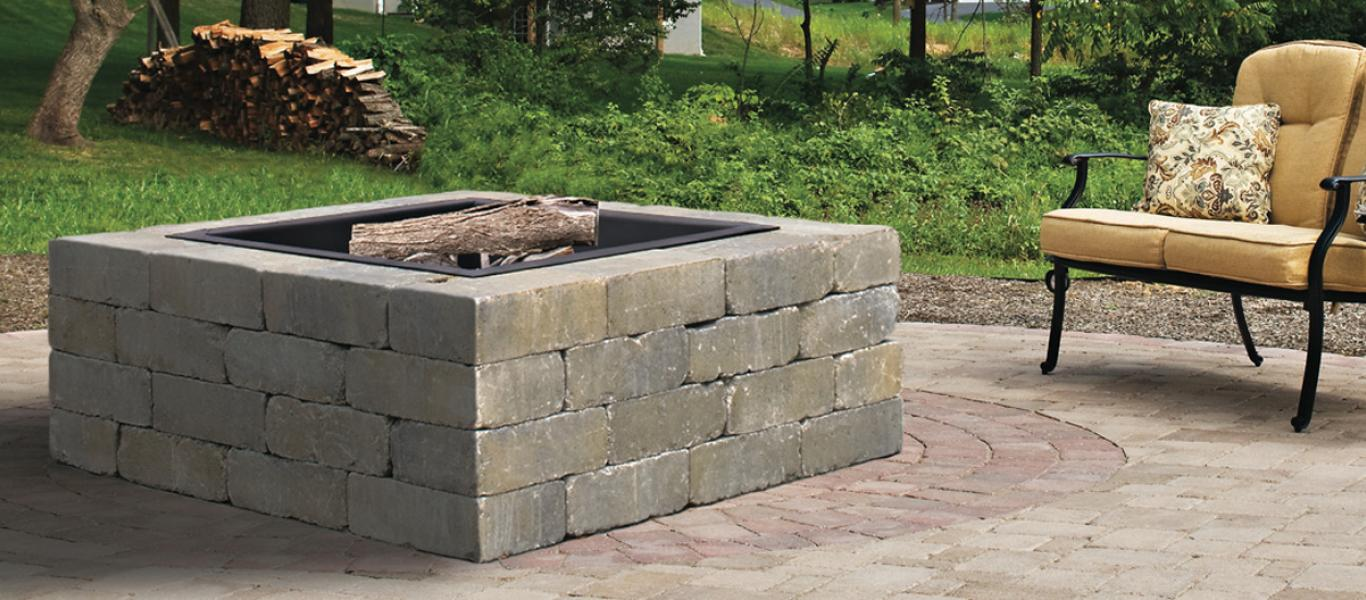 Weston Stone Fire Pit Kit -For those who prefer a cleaner, more  contemporary look, Belgard's Weston Stone® Universal Kit offers a pleasing  visual ... - Weston Stone Fire Pit Kit – Outdoor Solutions LPS